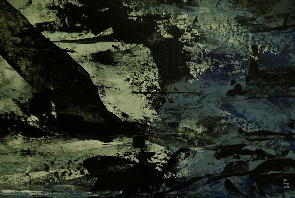 Flucht der Tiere Blatt II (15 x 20 cm)