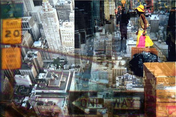 Bildinhalte - drei Analogfotos NYC
