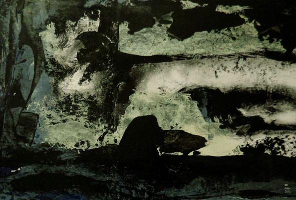 Flucht der Tiere Blatt I (15 x 20 cm)