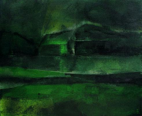 Grüne Winternacht (25 x 30 cm)
