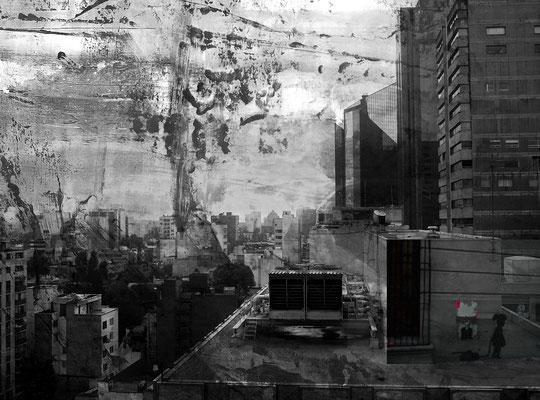 Bildinhalte - zwei Digitalfotos Mexico City/Monterrey - Mexiko und Acrylbild
