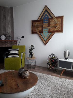 houten schilderij  haarlem restmatiriaal