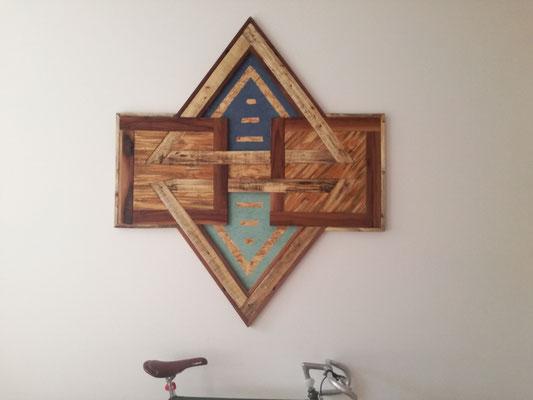 houten kunstwerk Haarlem