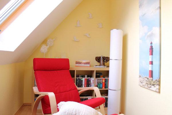 Prerow | Ferienwohnung Buchentraum 1/4 - Schlafzimmer 1 mit Leseecke