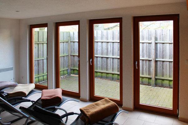 Prerow | Ferienwohnung Buchentraum 1/4 - Sauna mit Relaxliegen