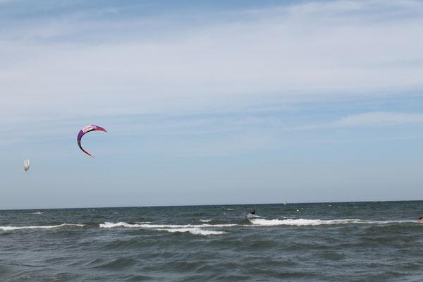 Kiten am Nordstrand in Prerow