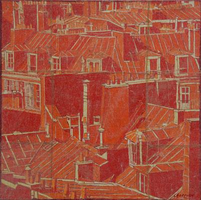 Paris Encre Rouge 40X40