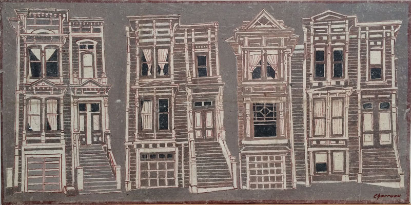 San Francisco - Painted Ladies - 60X30