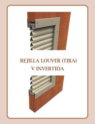 REJILLA LOUVER (TIRA) V INVERTIDA DE ACERO AL CARBÓN