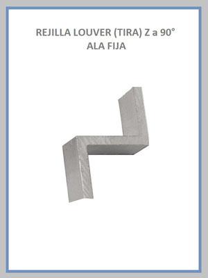 REJILLA LOUVER (TIRA) MODELO Z a 90°