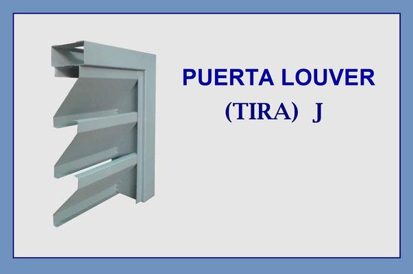 PUERTA LOUVER (TIRA) J LARGO DE 2.44 Y 3.05 m