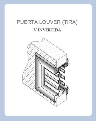 PUERTA LOUVER (TIRA) V INVERTIDA DIAGRAMA