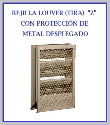 Rejilla louver tira grudisa metal desplegado perforado for Puerta tipo louver