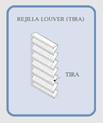 REJILLA LOUVER RECTA (TIRA) DIAGRAMA