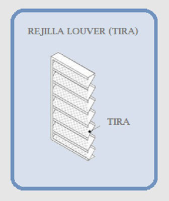 REJILLA LOUVER (TIRA)