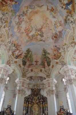 Wallfahrtskirche Steinhausen innen