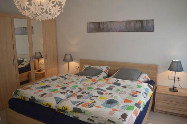 Schlafzimmer Ferienwohnung Bad Schussenried