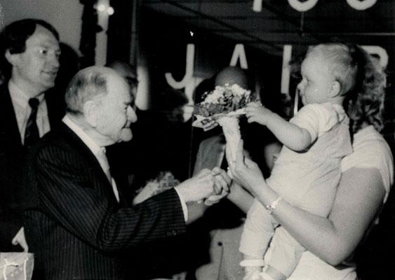 1986 zusammen 101 Jahre alt: Will Rath + Sebastian Gäßler