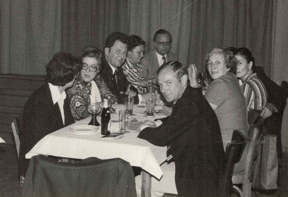 1977 Dankeschönfest (v.l. ?, ?, ?, Fr. + H. Ciesielski, H. Böttcher, Regina Wäsch, ?)