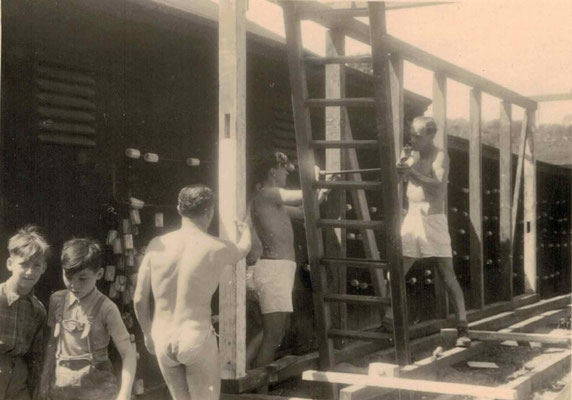 1953-54 Bau Damenkabine