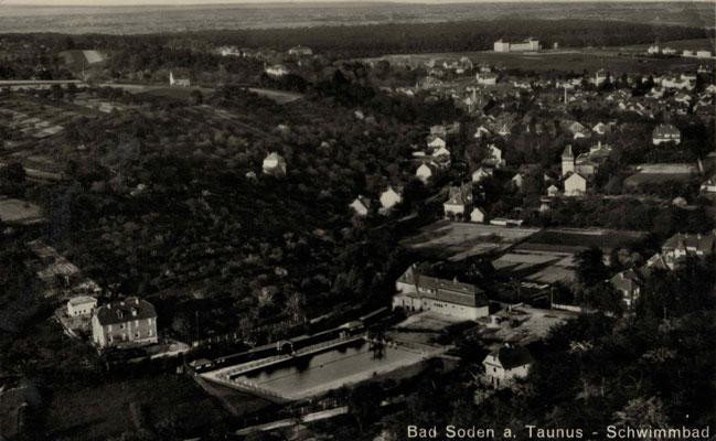 1927 Freibad Luftaufnahme