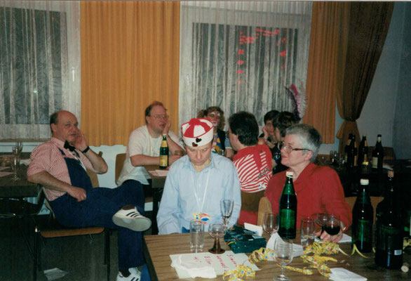 1992 Ramba Zamba - Kurt Bender, Wolfgang + Annette Gäßler, Marion Polydore, Karl + Renate Kubicek, Bernd + Fr. Lenuweit (von hinten li.)