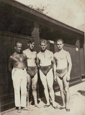 1927 Freibad - Schwimmmeister Andreas Klinge
