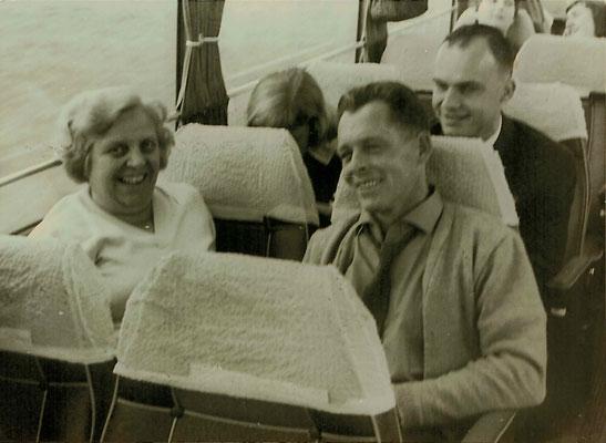 1960 ESSC-Fahrt - Mia Heckert, Hans Heckert, Christa Heckert, Kurt Bender