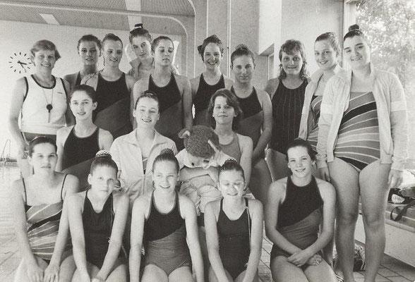 1985 Bezirksmeisterschaften Kunstschwimmen in Hofheim