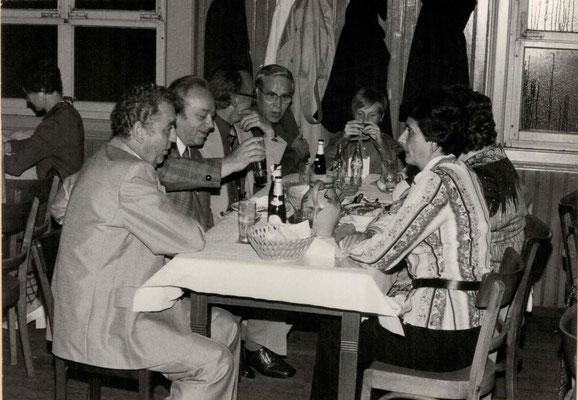 1977 Dankeschönfest (v.l. H. Pönitz, Helmut Raschke, ?, Gerhard Stottmeier, ?, Fr. Pönitz)