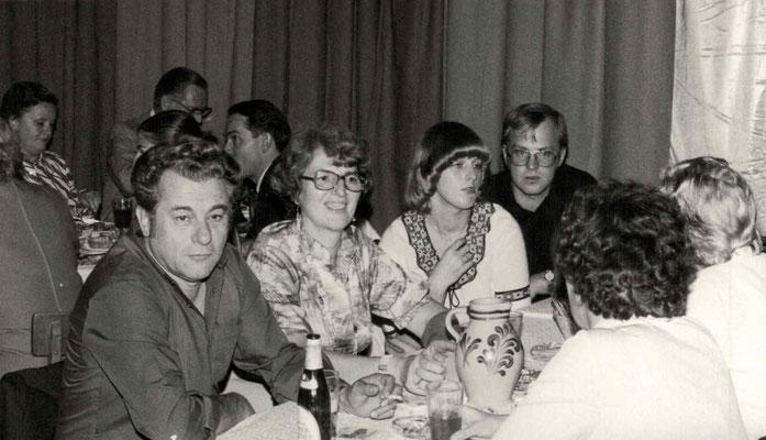 1977 Dankeschönfest - Walter, Margot + Annette Baloun, Wolfgang Gäßler (von li.)