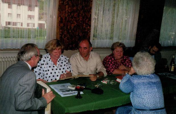 1987 60 Jahre - Alfred + Inge Unger, Helmut + Inge Meuser, Ursula Dillmann, Martin Müller (von li.)