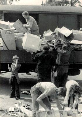 1966-1978 Papiersammlung (auf dem Wagen Horst Maus)