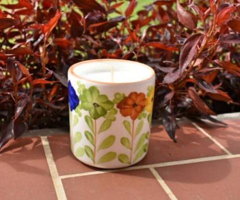 Vela perfumada referencia Vaso  decorado Vivoral - Velas Aromalife