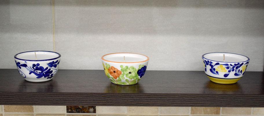 Vela perfumada referencia minitacita  decorado liz,  vivoral y  violeta - Velas Aromalife