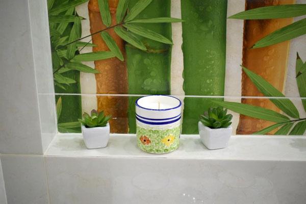 Vela perfumada referencia Vaso  decorado Jardin - Velas Aromalife