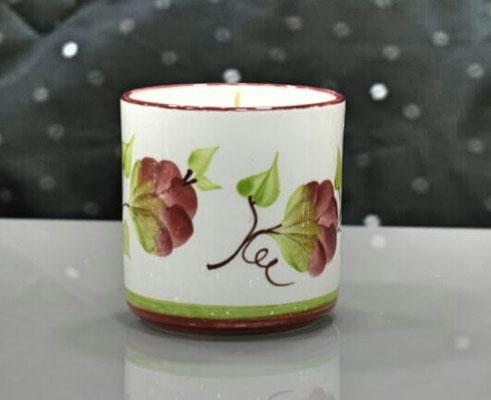 Vela perfumada referencia Vaso  decorado Rosas - Velas Aromalife