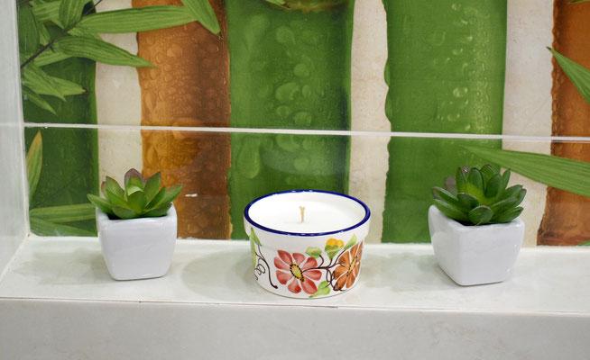 Vela Perfumanda Materita, decorado Floral- Velas Aromalife