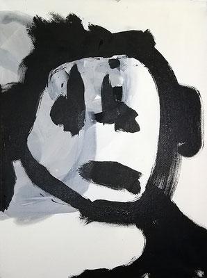 traurigleer, 2018, Acryl auf Leinwand, 60 x 80 cm