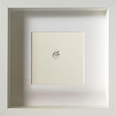 Die Gedanken sind Brei, 2019, 20 x 20 cm, Graphit auf Papier, gerahmt