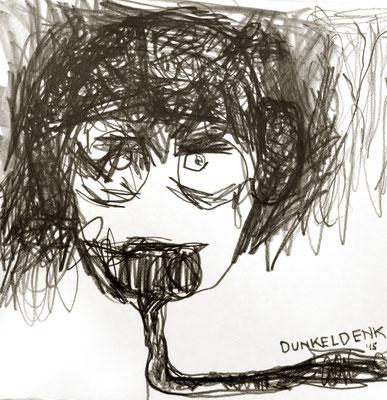 dunkeldenk, 2015, 20 x 20 cm, Graphit auf Papier