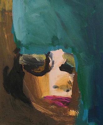 Maikel Dschäksen, 2017, 30 x 40 cm, Acryl auf Leinwand