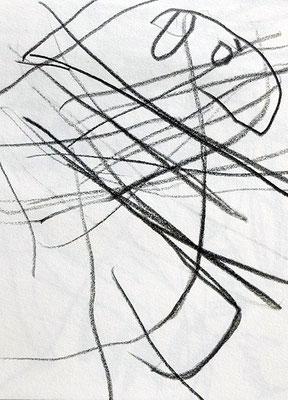 saures Schaf, 2003, 7,5 x 10 cm, Bleistift auf Papier