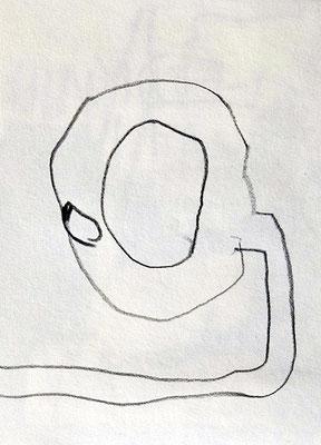 Was glotzt du so? 2015, 7,5 x 10 cm, Bleistift auf Papier