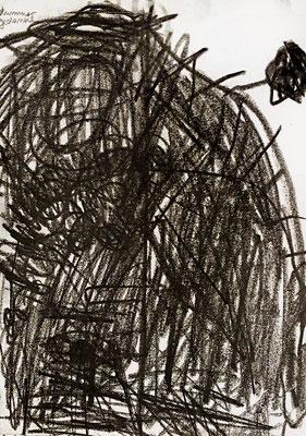 dummer gedanke, 2015, 20 x 20 cm, Graphit auf Papier
