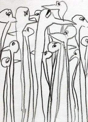 Ingos, 2015, 7,5 x 10 cm, Bleistift auf Papier
