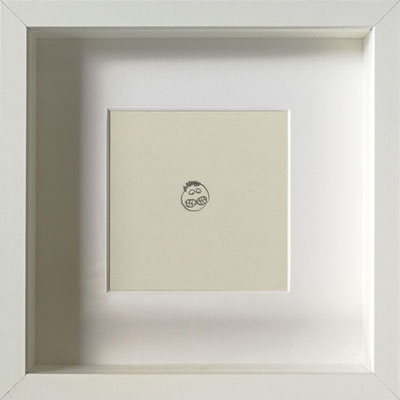 Doppeloral, 2019, 20 x 20 cm, Graphit auf Papier, gerahmt