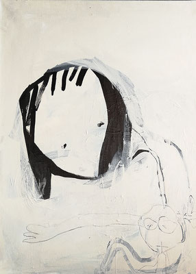 Krumme Seele, 2019, 80 x 100 cm, Acryl auf Leinwand