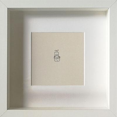 Gefühle-Mühle, 2019, 20 x 20 cm, Graphit auf Papier, gerahmt