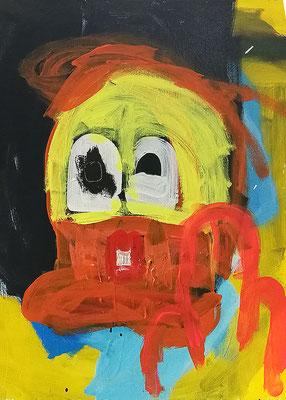 DONALD FUCK, 2019, 60 x 80 cm, Acryl auf Leinwand